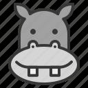 animal, face, head, hippo, hippopotamus, wild, zoo icon