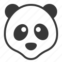 animal, china, cute, face, panda, zoo icon