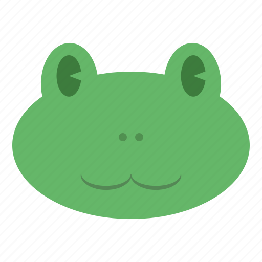 animal, cute, face, frog, froggy, head, toad icon