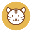 animal, bear, cute, park, tiger, wild, zoo icon