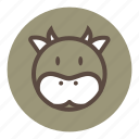 animal, bear, cow, cute, park, tiger, wild, zoo icon