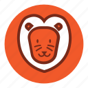 animal, bear, cute, lion, park, tiger, wild, zoo icon