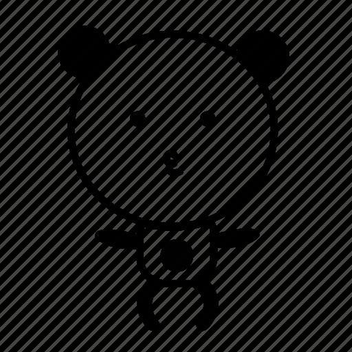 animal, black and white, crazy, cute, emoji, panda icon