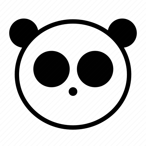 animal, black and white, cute, emoji, panda icon