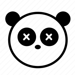 animal, black and white, cute, emoji, panda icon