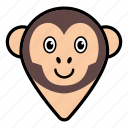 adorable, animal, cute, lovely, monkey, pet, sweet icon