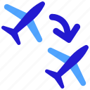airport, exchange, flight, transfer, transport icon