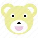 bear, cute, panda, smile, yellow icon