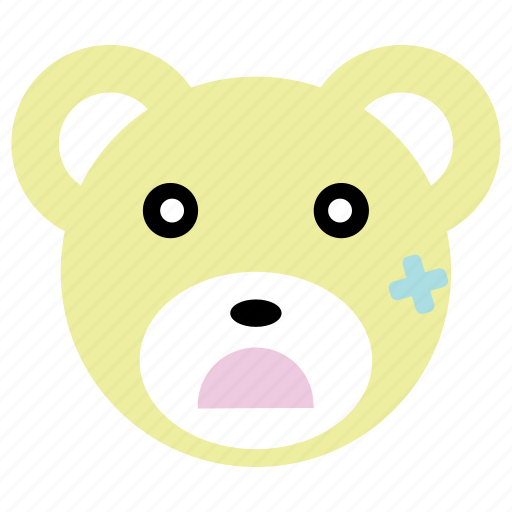 bear, cute, injured, panda, sick icon