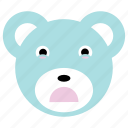 bear, cute, panda, sad icon