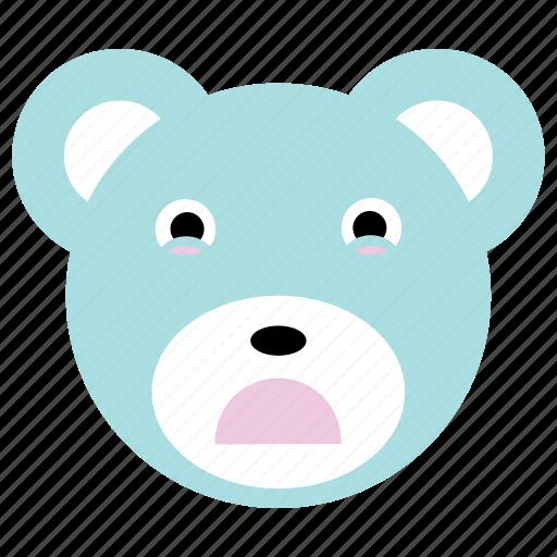 bear, cute, panda, sad icon