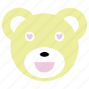 bear, cute, happy, heart, love, panda icon