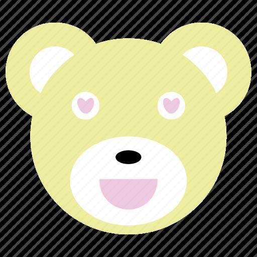 bear, cute, happy, heart, love, panda icon