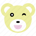 bear, blink, cute, happy, panda icon