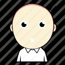 avatar, boy, cute, emoticon, expression, face, shock icon