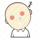 avatar, boy, cute, emoticon, expression, face, sleep icon