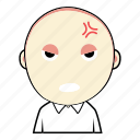 boy, cute, face, emoticon, angry, expression, avatar