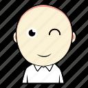avatar, boy, cute, emoticon, expression, face, smiley icon