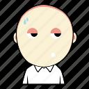 avatar, boy, cute, emoticon, expression, face, lazy icon