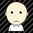 avatar, boy, cute, emoticon, expression, face, sad icon