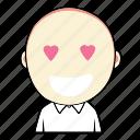 boy, cute, emoticon, expression, face, love, smiley icon