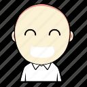 boy, cute, emoticon, expression, face, laugh, smiley icon