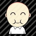 boy, cute, eat, emoticon, expression, face, smiley icon