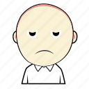 avatar, boy, cute, disatisfy, emoticon, expression, face icon