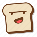 bread, breakfast, emoji, loaf, slice, toast icon