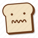 bread, breakfast, emoji, sick, slice, toast, unwell icon