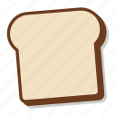 bread, breakfast, loaf, plain, slice, toast icon
