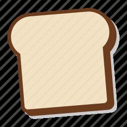 bread, breakfast, loaf, plain, slice, toast icon