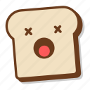 bread, breakfast, emoji, gluten, slice, toast, unhealthy icon