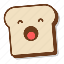 bread, breakfast, emoji, sleepy, slice, toast, yawn icon