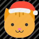 animal, cat, christmas, hat, pet, xmas, zoo icon