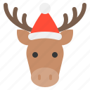 animal, christmas, hat, moose, xmas, zoo icon