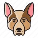 cartoon, cute, dog, head, retriever, set icon
