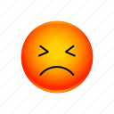 angry, emoji, face, smiley