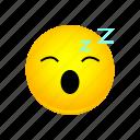 emoji, face, sleepy, smiley icon