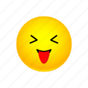 emoji, face, smiley, squinting, tongue, with