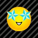 emoji, smiley, star, stucked