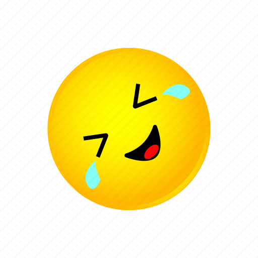 floor, laughing, on, rolling, smiley icon