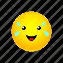 happy, joy, of, smiley, tears