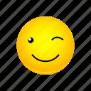 emoji, face, smiley, winking