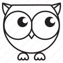 #fall, cartoon, cute, emoji, halloween, owl icon