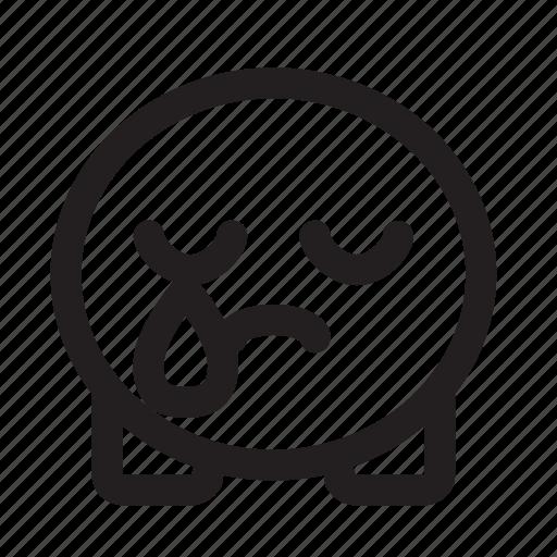 cute, emoji, sad icon