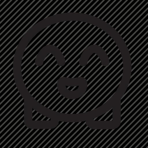 cute, emoji, happy icon