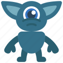 pointy, ears, monster, cartoon, character icon