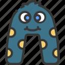 a, shape, monster, cartoon, character
