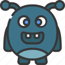 antenna, rounded, monster, cartoon, character